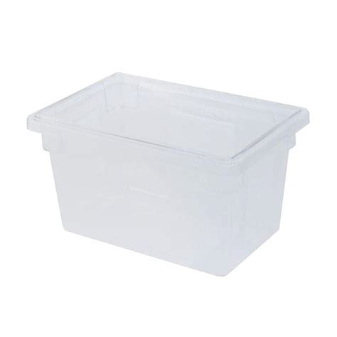 rubbermaid storage containers rubbermaid commercial products 21 1 2 gal clear food storage box rcp3301cle the home depot