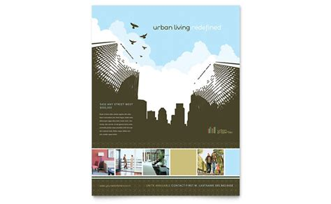 urban real estate flyer template design
