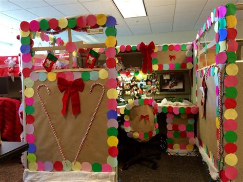 gingerbread house office cubicle decorations gingerbread created by and on