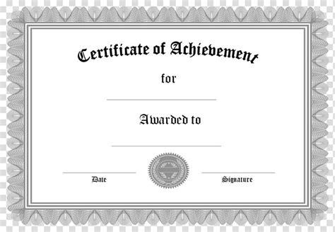 certificate  achievement paper academic certificate