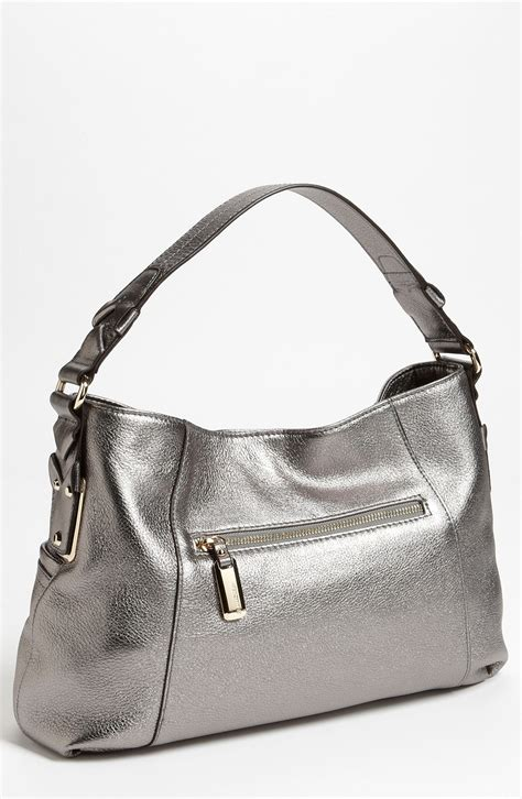 B Makowskys Handbags by B Makowsky Davis Shoulder Bag In Silver Pewter Lyst