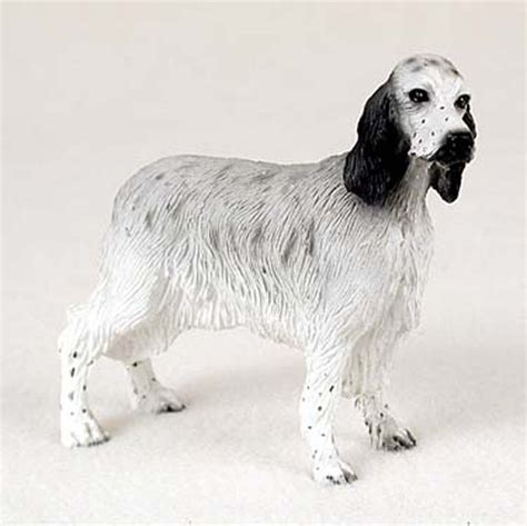 setter dog statue english setter hand painted dog figurine statue blue