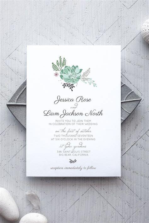 Succulent Wedding Invitations succulent printable wedding invitation invitation
