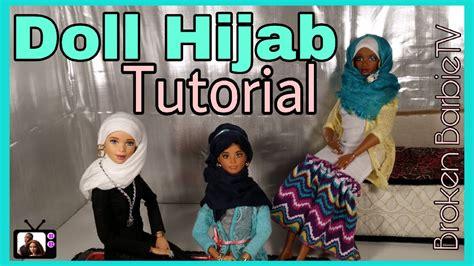 tutorial hijab barbie bel diy how to make barbie hijab tutorial custom barbie hijab