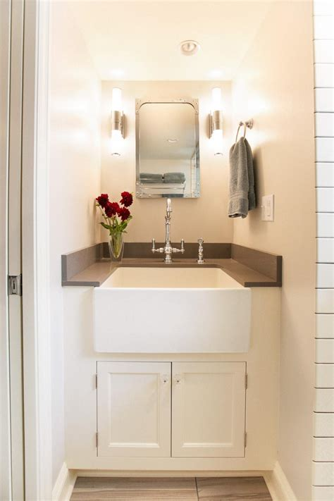 small farm sink for bathroom 15 small baths that live large hgtv