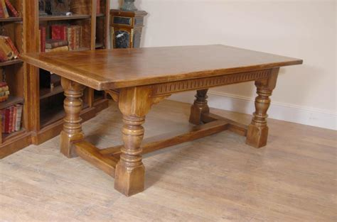 oak kitchen table 7 ft farmhouse refectory kitchen table oak tables