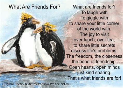 what are friends for penguin quotes adorbs