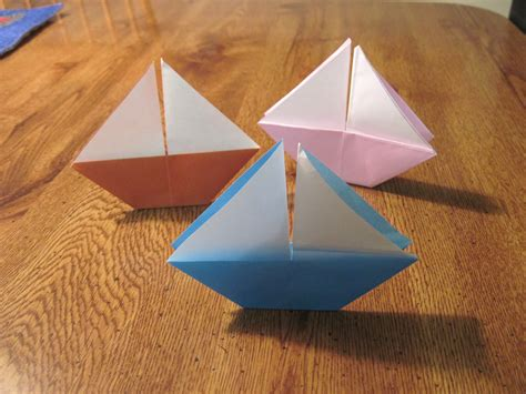 Paper Folding Ship - origami darlene beck jacobson