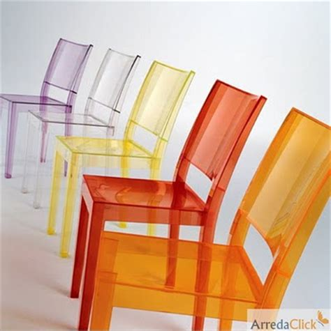 le transparente kartell arredaclick italian design furniture transparent plastic chairs lightness resistance