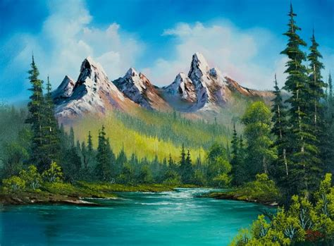 bob ross style paintings for sale shopping bob ross country 86155 painting bob ross