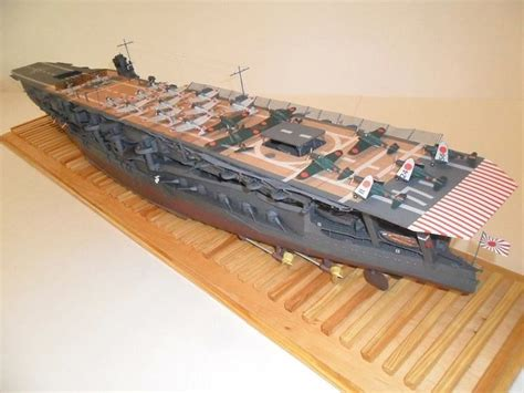How To Make A Paper Aircraft Carrier - 245 1 200 ijn kaga aircraft carrier paper model pdf format
