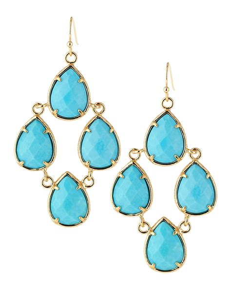Turquoise Chandelier Earrings Kendra Teardrop Chandelier Earrings Turquoise In
