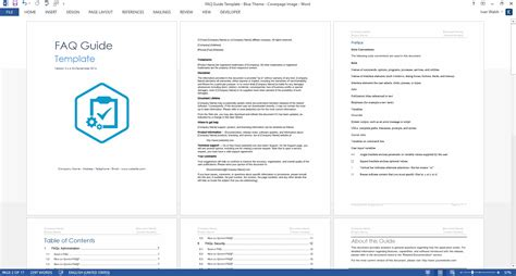 technical data package template faqs ms word template for frequently asked questions