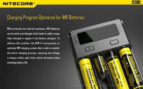 Nitecore Charger Baterai 4 Slot Li Ion Nimh Sc4 nitecore intellicharger universal battery charger 4 slot for li ion and nimh new i4 black