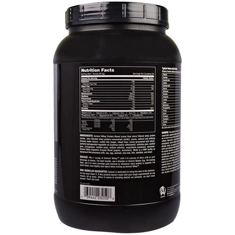 Whey Protein Universal Nutrition universal nutrition animal whey food brownie batter protein powder 2 lb 907 g