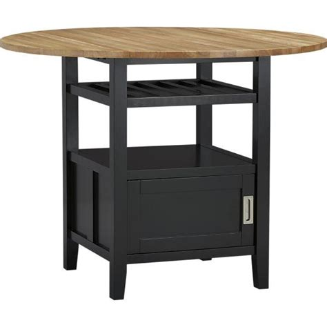high pub dining table belmont black high dining table crate and barrel