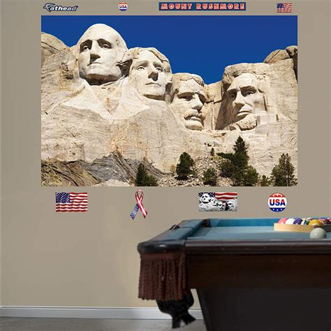 Mount Rushmore Mural Wall Decal Shop Fathead 174 For General Home Graphics Decor Mount Rushmore Photoshop Template