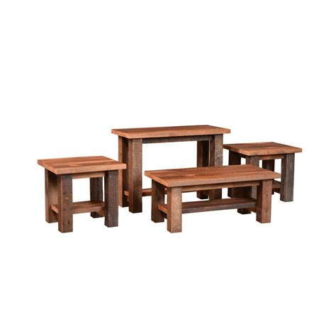 barnwood almanzo end table amish crafted furniture