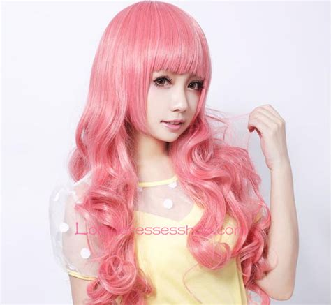 Sale Curly Flower Ungu Pink cheap pink curly nifty wig sale at dresses shop
