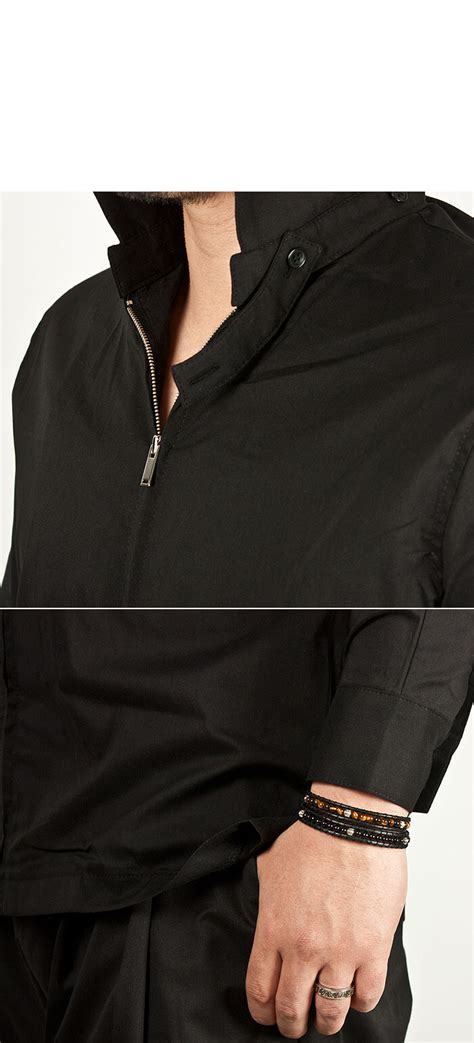 Sleeve Zip Accent T Shirt tops sold out detachable sleeves accent collar
