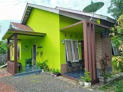 inspirasi warna cat rumah nuansa hijau minimalis