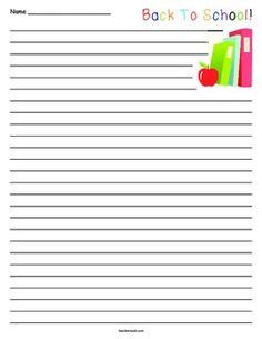 back to school writing paper apple lined paper primary school events school and