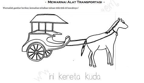 Mewarnai Alat Transportasi worksheets mewarnai macam macam alat transportasi 1