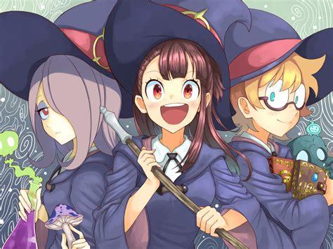 desktop wallpaper happy anime atsuko kagari lotte yanson sucy manbavaran anime hd
