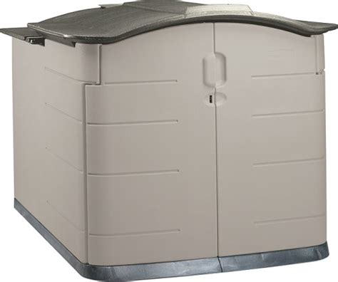 deals rubbermaid slide lid storage shed 3752 grey roof