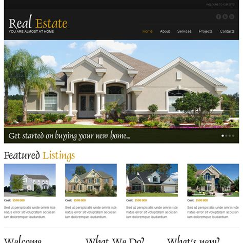 pages templates for real estate real estate html website templates to create your real