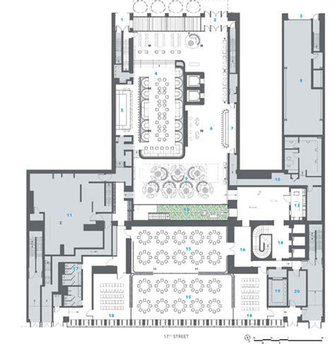 contemporary resort floor plan dream downtown hotel por handel architects metalocus