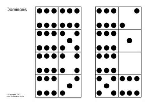 printable domino cards dominoes counting teaching resources and printables