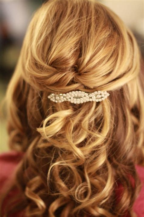 prom hairstyles half up half down curly medium hair prom hairstyles for medium hair half up half down women