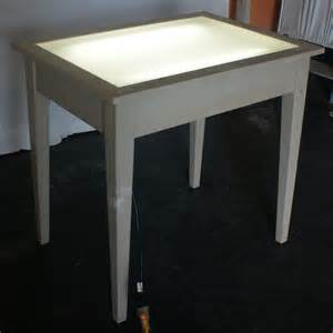 Drafting Table Light Vintage Drafting Light Table Desk Wood Glass Ebay