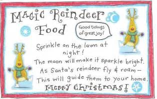 reindeer fun and free printable magic reindeer food tag