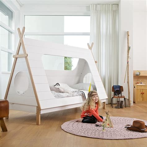 teepee bed kids teepee cabin bed in white solid pine cabin beds cuckooland