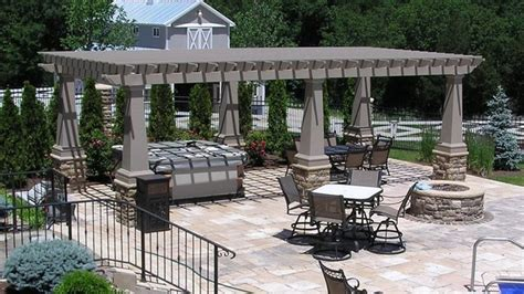 pergola maintenance free systems modern patio