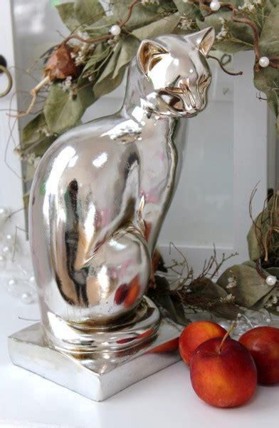 Weihnachtsdeko Fensterbank Silber by Katze Dekofigur Silber Weihnachtsdeko Deko Geschenk
