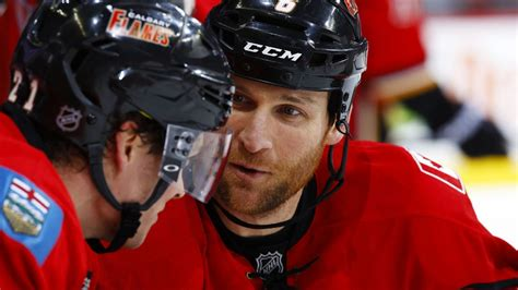 Cross Background Check Dennis Wideman Of Calgary Flames Cross Checks Linesman