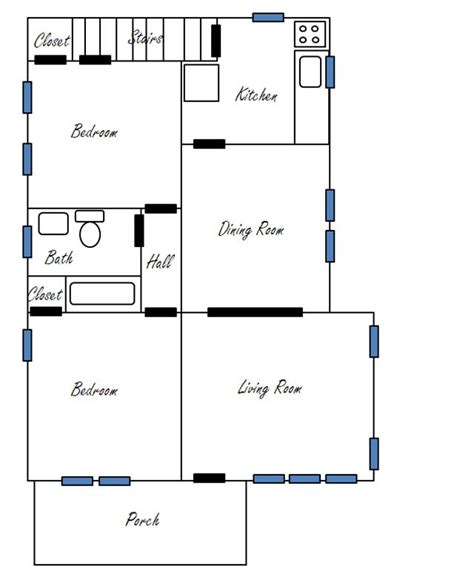 floor plan ittybittybungalow