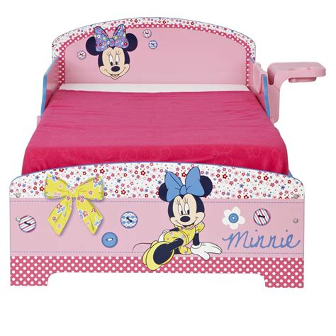 minnie bed minnie mouse toddler junior bed shelf storage sprung