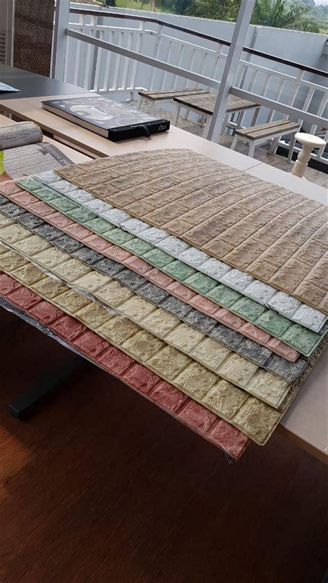 jual wallpaper dinding foam block wall panel cm  cm