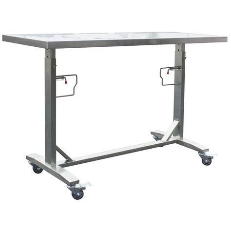 husky adjustable work table husky 62 in adjustable height work table holt62xdb12