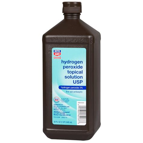 can you use peroxide on a rite aid hydrogen peroxide solution 32 fl oz 1 count rite aid