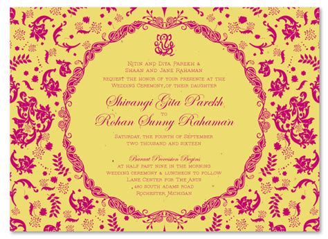 Indian Theme Wedding Invitations by Indian Wedding Invitations On Seeded Paper Vintage Hindu