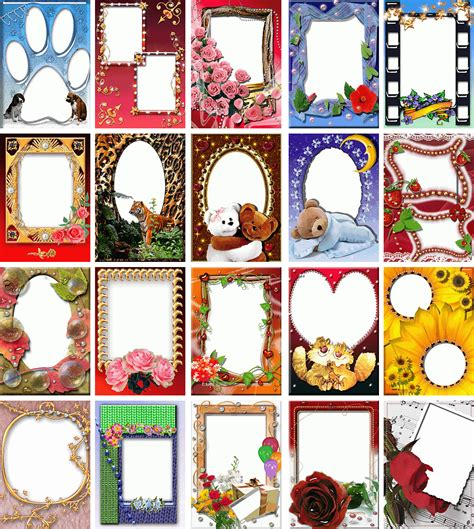 500 photo frame templates 4 photoshop on dvd