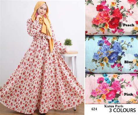 Gamis Katun Jepang Model Umbrella gamis modern 624 katun baju muslim remaja terbaru