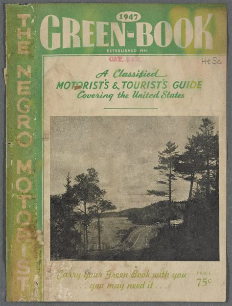 the in green books the negro motorist green book window on yesterday