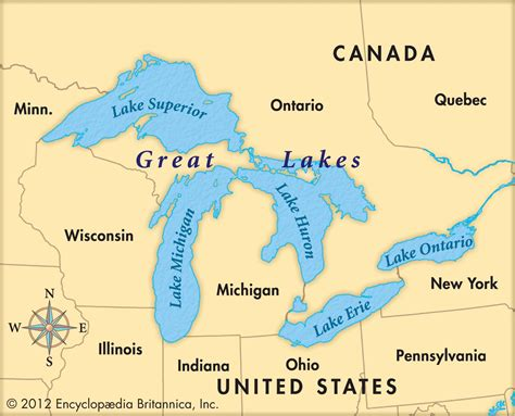 map of the five great lakes in the united states printable us map with great lakes arabcooking me