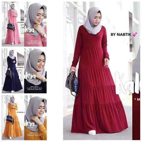 Baju Muslim Atasan Murah Believe Model Tunik Simple Blus Kaos Santai gamis remaja polos terbaru kaleya model baju gamis terbaru